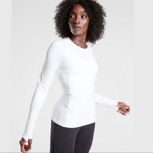 NWT Athleta XS Eclipse Long Sleeve- Bright White